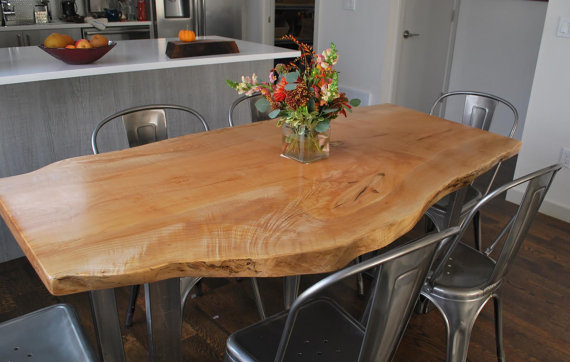 Widely Used Medium Dining Tables Intended For Seattle Small/medium Live Edge Dining Table This Is A Custom (View 6 of 20)