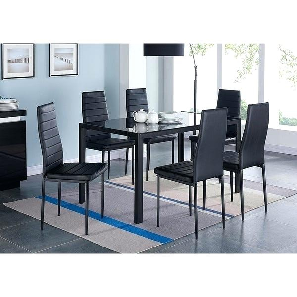 Widely Used Modern Dining Table And Chairs – Rioko With Contemporary 6 Seating Rectangular Dining Tables (#20 of 20)