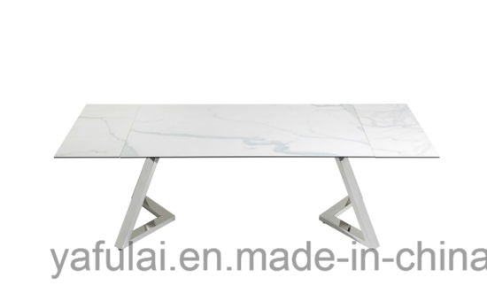 Widely Used Modern Glass Top Extension Dining Tables In Stainless With Modern Extension Tempered Glass Ceramic Top Stainless Steel (#20 of 20)