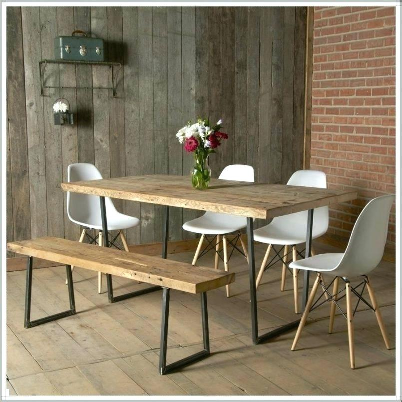 Widely Used Small Rustic Look Dining Tables With Regard To Small Dining Set With Bench – Timabel (View 6 of 20)