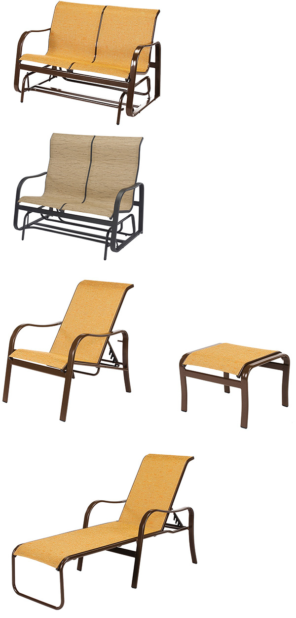 Windward Sonata Patio Furniture | Louisiana Casual Living With Speckled Glider Benches (View 20 of 20)