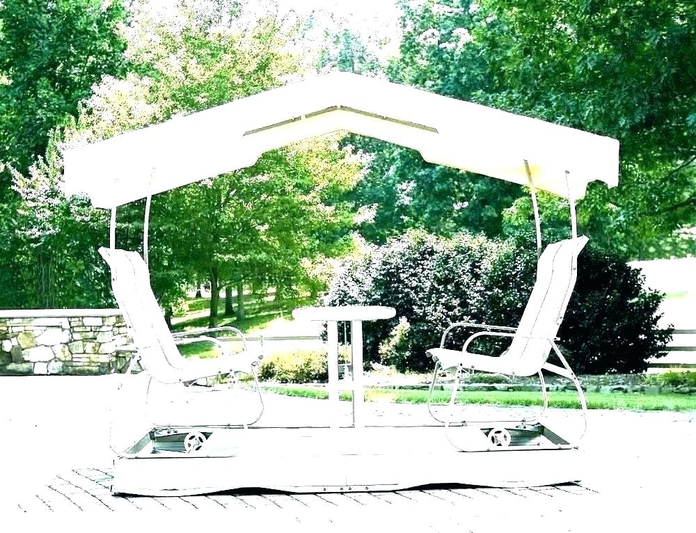Winning Outdoor Covered Swing Swinging Lounger Outsunny For Canopy Patio Porch Swing With Stand (View 10 of 20)