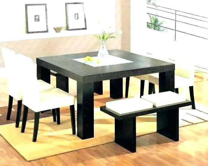 Winning Square Table Set For 8 Excellent Dining Seats And For Fashionable Contemporary 4 Seating Square Dining Tables (#20 of 20)