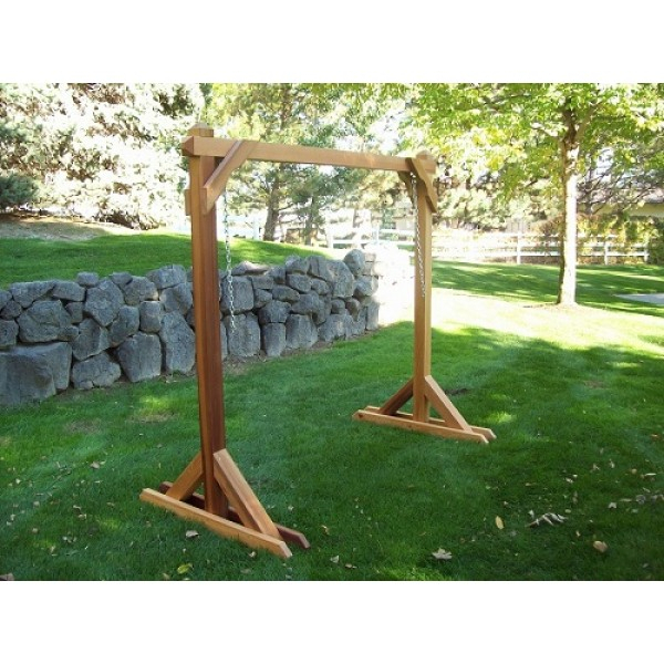 Wood Country Basic Swing Frame Porch Swing Stand 4Bs 1 B In Patio Porch Swings With Stand (View 19 of 20)