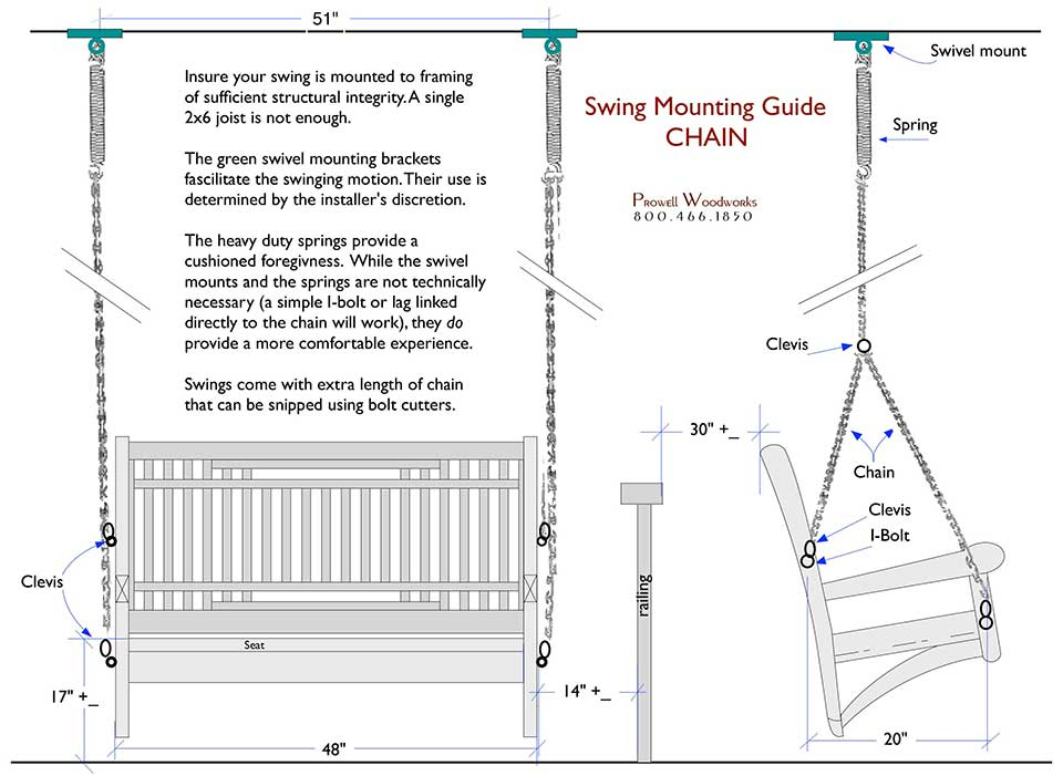 Wood Swing Specifications For Prowell Woodworks Inside Porch Swings With Chain (#20 of 20)