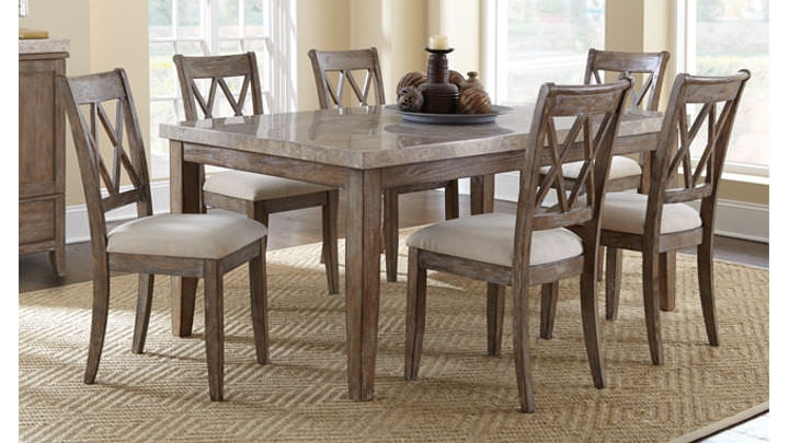 Wood Top Dining Tables Intended For Well Known Franco Marble Top Dining Table (View 19 of 20)