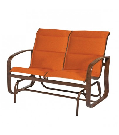 Woodard Cayman Isle Padded Sling Double Glider In Padded Sling Double Glider Benches (View 11 of 20)