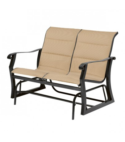 Woodard Cortland Padded Sling Double Glider With Regard To Padded Sling Double Glider Benches (View 9 of 20)