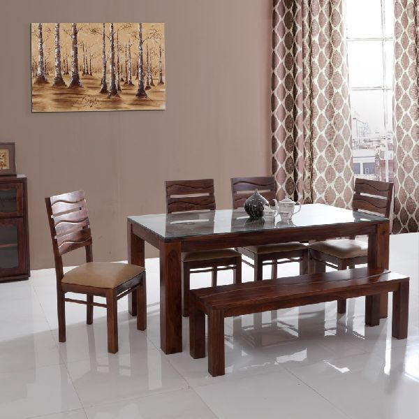 Wooden Dining Table Set With Out Dining Top Glass Pertaining To Recent Wood Top Dining Tables (View 17 of 20)