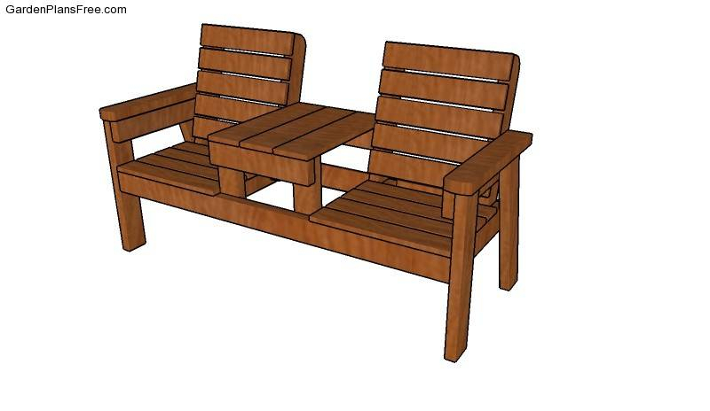 Wooden Glider Outdoor Furniture Porch Swing Plans Double Throughout Twin Seat Glider Benches (View 3 of 20)