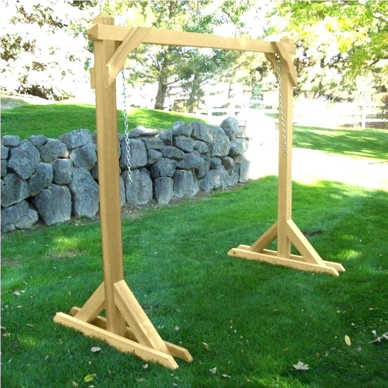 Wooden Porch Swings With Stand – Thedeviator (#20 of 20)