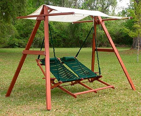 Wooden Swing A Frame With Canopy Adapt To Existing Porch Throughout Patio Loveseat Canopy Hammock Porch Swings With Stand (View 20 of 20)