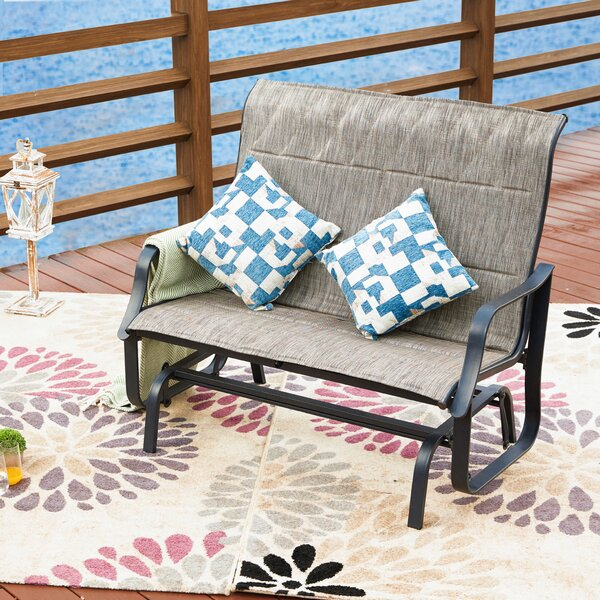 Wrought Iron Glider Bench | Wayfair Inside Cushioned Glider Benches With Cushions (View 14 of 20)