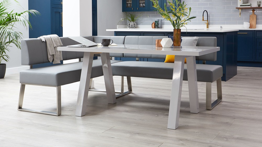 Zen 6 Seater Grey Gloss Dining Table With Regard To Fashionable Modern Dining Tables (#18 of 20)