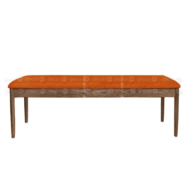 Alvin Upholstered Solid Wood Dining Bench – Walnut Finish – More Colors Pertaining To Walnut Solid Wood Garden Benches (View 12 of 20)