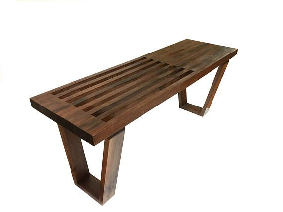 Black Walnut Bench | Solid Wood Benches, Black Walnuts In Walnut Solid Wood Garden Benches (View 7 of 20)