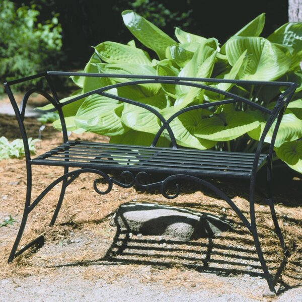 Black Wrought Iron Bench With Strasburg Blossoming Decorative Iron Garden Benches (View 12 of 20)