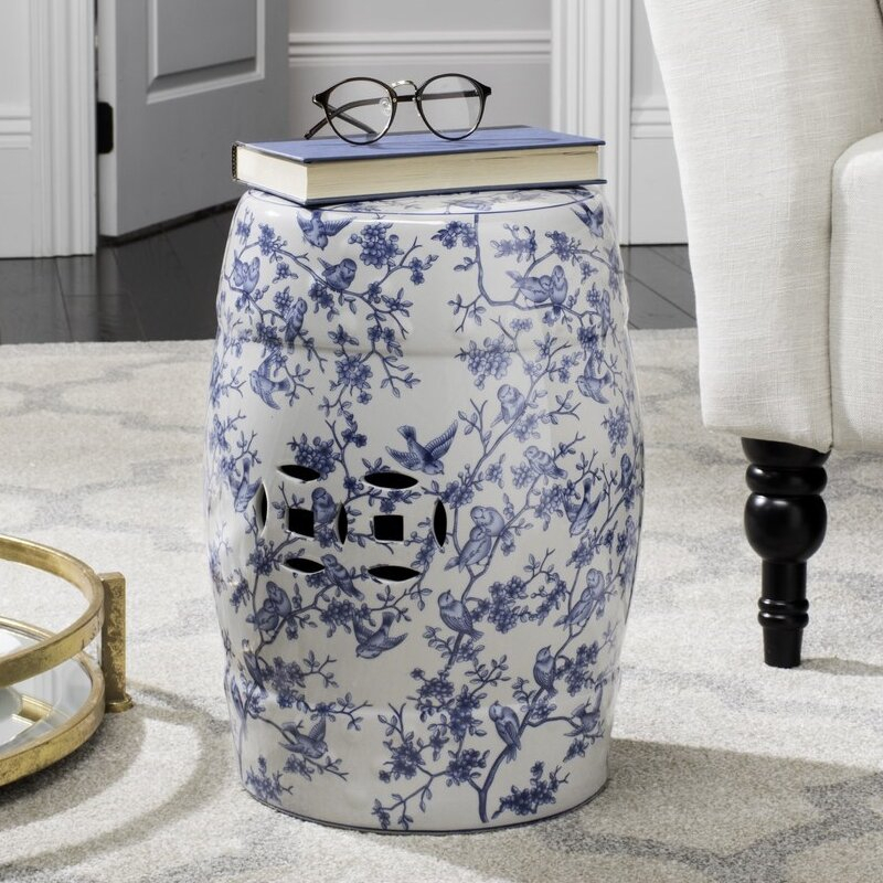 Blue & White Garden Stools You'll Love In 2020 | Wayfair Intended For Bracey Garden Stools (View 7 of 20)