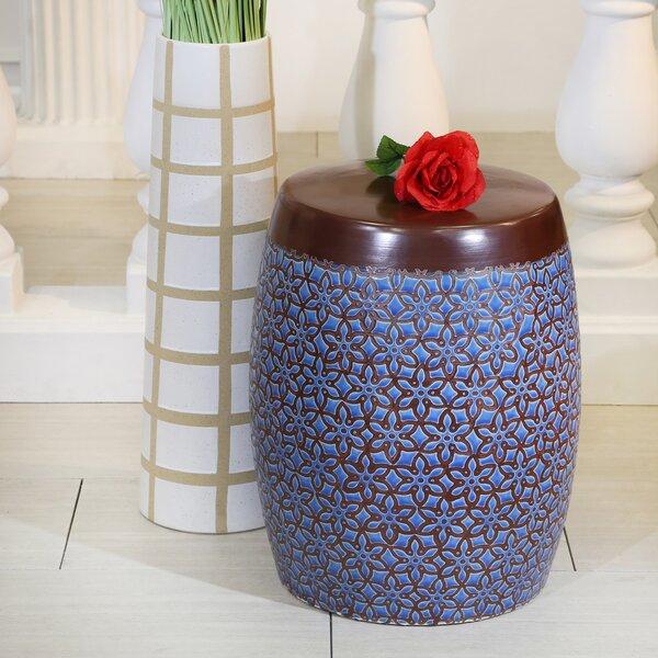 Ceramic Floral Stool   Wayfair For Wilde Poppies Ceramic Garden Stools (View 17 of 20)