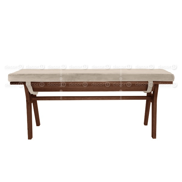 Chloe Velvet Solid Wood Bench – Walnut Finish – More Colors And Sizes Pertaining To Walnut Solid Wood Garden Benches (View 10 of 20)