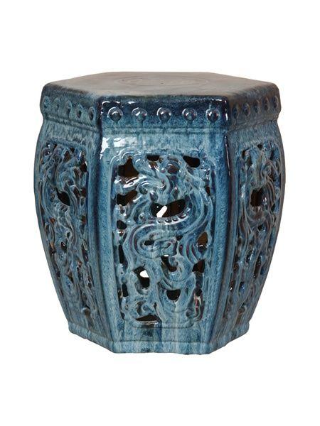 Emissary 0949qb Hexagon Dragon Stool In 2020 | Garden Stool For Aloysius Ceramic Garden Stools (View 6 of 20)