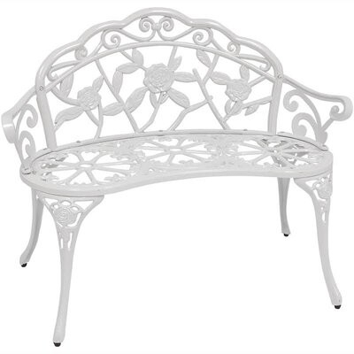 Encanto Rose Cast Iron And Cast Aluminum Garden Bench Throughout Strasburg Blossoming Decorative Iron Garden Benches (View 13 of 20)