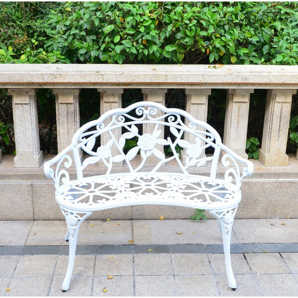 Front Porch Outdoor Bench Intended For Strasburg Blossoming Decorative Iron Garden Benches (View 16 of 20)