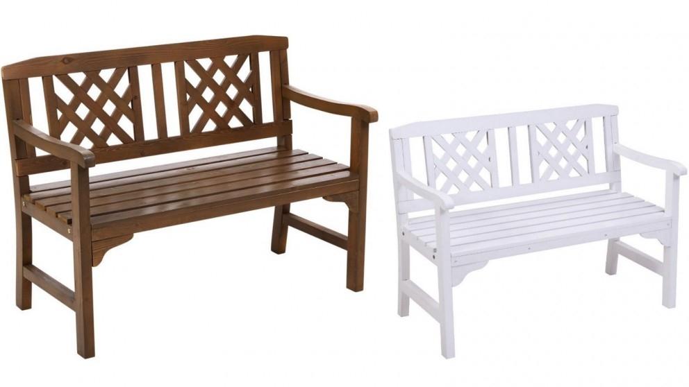 Gardeon 2 Seater Wooden Garden Bench Seat With Regard To Manchester Wooden Garden Benches (View 13 of 20)