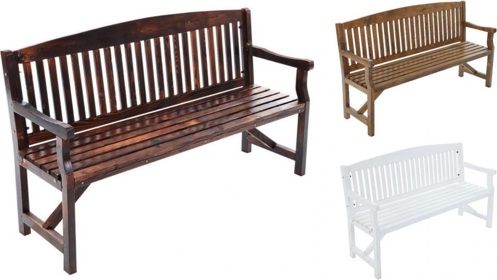 Gardeon 3 Seater Wooden Garden Bench Chair For Manchester Wooden Garden Benches (View 11 of 20)