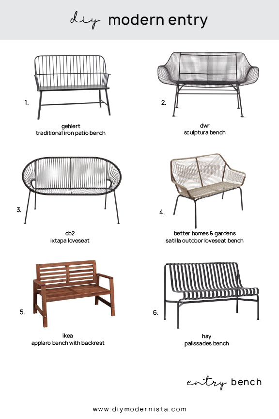 How To Style Your Modern Entrywayon A Budget! | Diy In Gehlert Traditional Patio Iron Garden Benches (View 20 of 20)