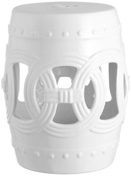 "Lucky Coins 16"" Chinese Ceramic Drum Garden Stool, White Regarding Bonville Ceramic Garden Stools (View 13 of 20)"