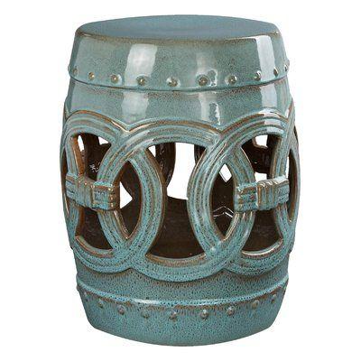Medallion Porcelain Garden Stool | Ceramic Garden Stools For Kujawa Ceramic Garden Stools (View 10 of 20)