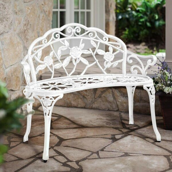 Nautical Outdoor Bench Within Strasburg Blossoming Decorative Iron Garden Benches (View 11 of 20)