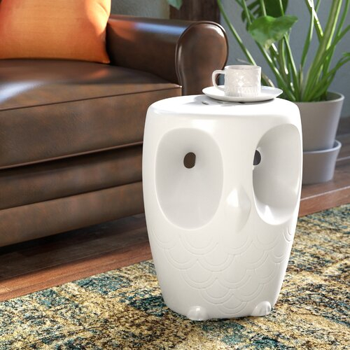 Noreen Owl Garden Stool For Bonville Ceramic Garden Stools (View 16 of 20)