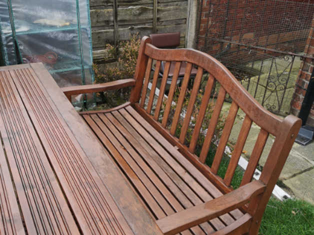 Solid Wood Garden Furniture   In Stockport, Greater With Regard To Manchester Wooden Garden Benches (View 17 of 20)