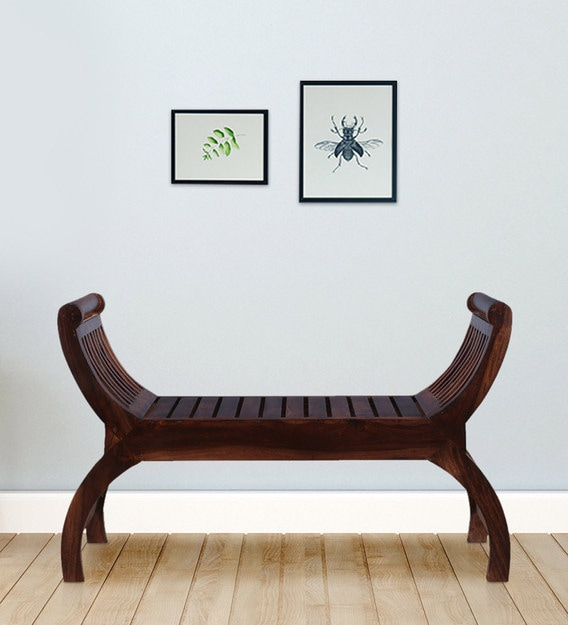 Solid Wood Large Bench In Walnut Color Pertaining To Walnut Solid Wood Garden Benches (View 20 of 20)
