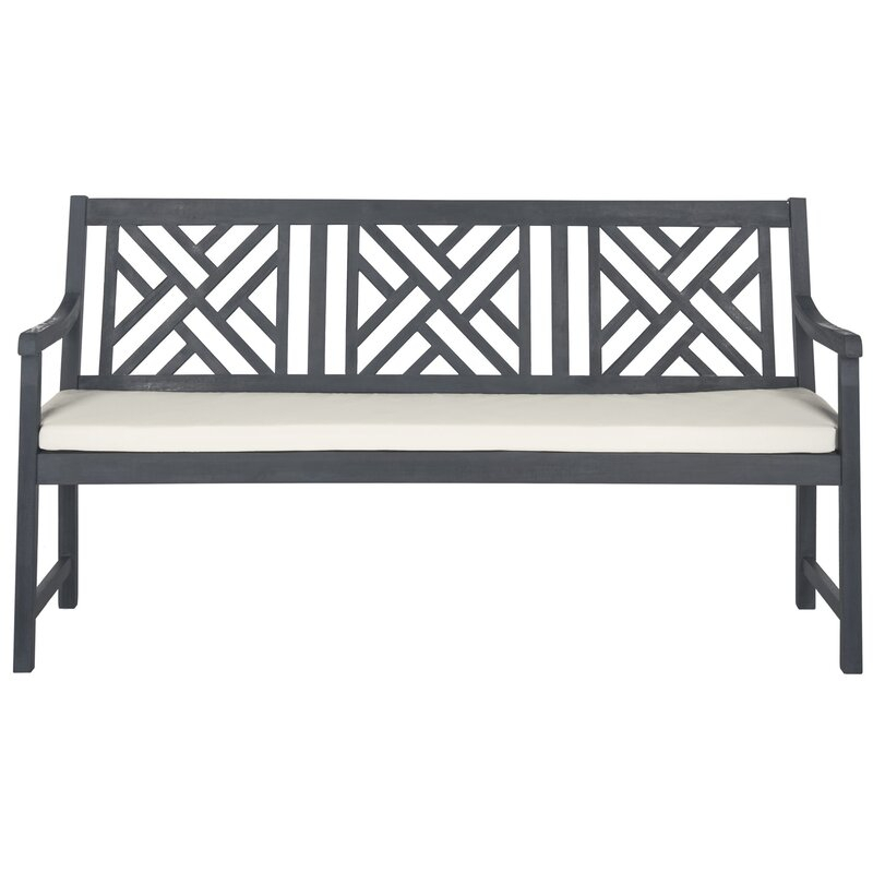 Stanwich Acacia Garden Bench In Gehlert Traditional Patio Iron Garden Benches (View 11 of 20)