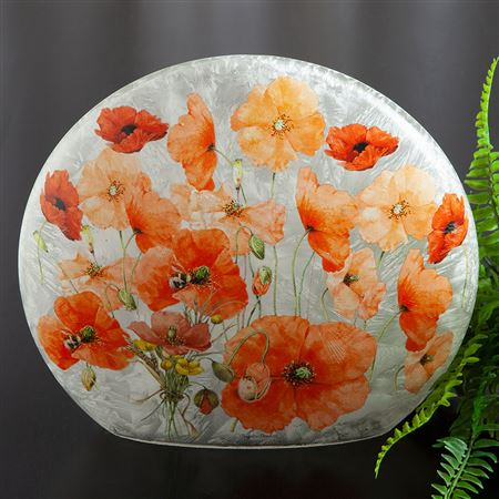 Wild Poppies Glass Accent Light Inside Wilde Poppies Ceramic Garden Stools (View 10 of 20)