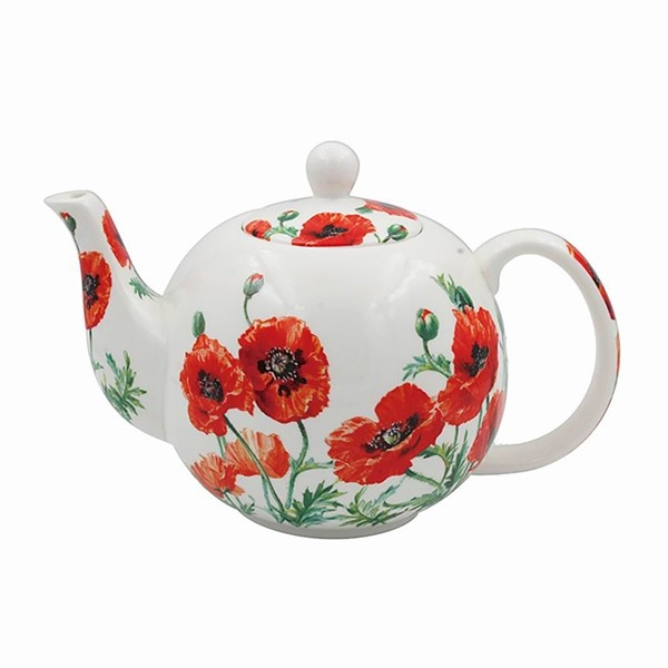 Wild Poppy Tea Pot From Our Lesser And Pavey Range Intended For Wilde Poppies Ceramic Garden Stools (View 13 of 20)