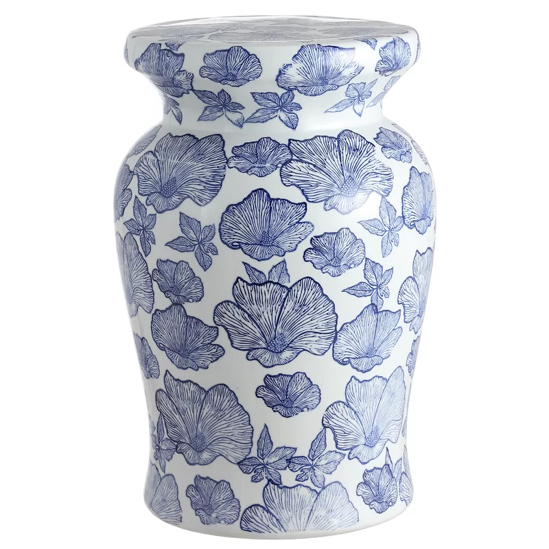 Wilde Poppies Ceramic Garden Stool In 2020   Ceramic Garden Intended For Wilde Poppies Ceramic Garden Stools (View 2 of 20)