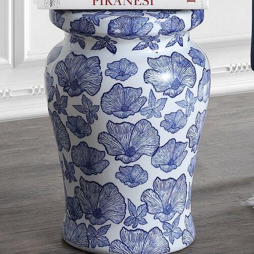 Popular Photo of Wilde Poppies Ceramic Garden Stools