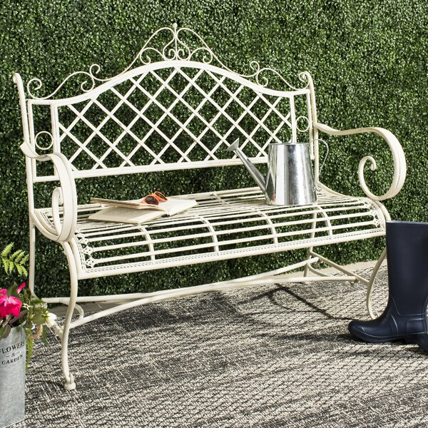 Wrought Iron Outdoor Bench Pertaining To Gehlert Traditional Patio Iron Garden Benches (View 15 of 20)