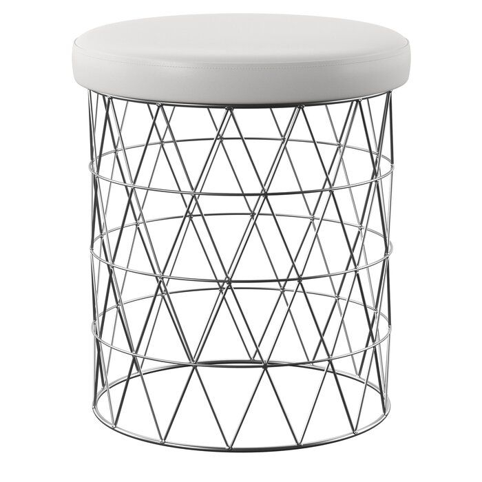 Yamada Modern Round Accent Stool | Stool, Accent Stool Throughout Fifi Ceramic Garden Stools (View 11 of 20)