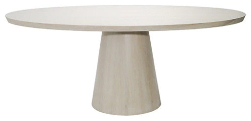 Inspiration about 2019 Canalou 46'' Pedestal Dining Tables Pertaining To Worlds Away Jefferson Oval Oak Pedestal Dining Table (#13 of 20)