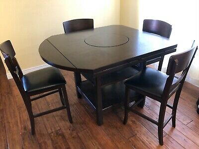 Inspiration about 2019 Dallin Bar Height Dining Tables Intended For Pick Up 6 Pc Dining Room Set Counter Height Table W Lazy (#19 of 20)