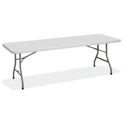 """72"""" L Breakroom Tables And Chair Set In Famous Fbm3072 Rectangular Plastic Blow Molded Folding Table 72″l (View 4 of 20)"""