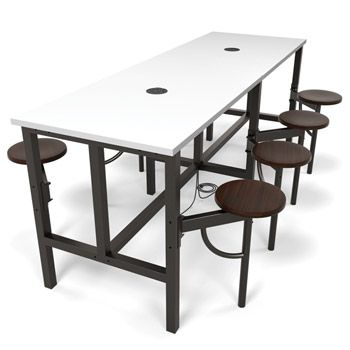 """Popular Photo of 72"""" L Breakroom Tables And Chair Set"""