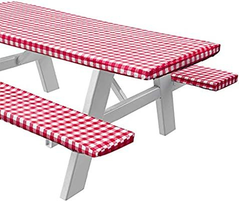 """Amazon: Sorfey Vinyl Picnic Table And Bench Fitted In Most Popular 72"""" L Breakroom Tables And Chair Set (View 14 of 20)"""