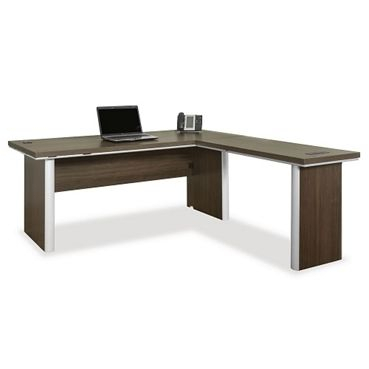 """Best And Newest Metropolitan 72 Reversible L Shaped Desk // Nbf Signature With Regard To 72"""" L Breakroom Tables And Chair Set (View 5 of 20)"""