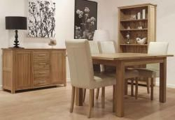 Carmen Dining Table – Ext 1800 – 2300 Solid Oak Extending Intended For Newest Yaqub 39'' Dining Tables (View 13 of 20)